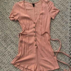 Wild Fable Pink Button Front Romper